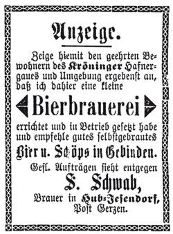 Schwab Anzeige